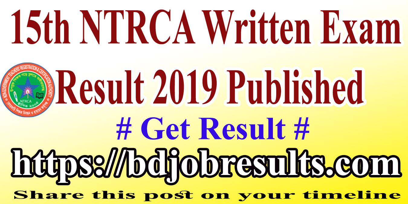 15th NTRCA Written Exam Result
