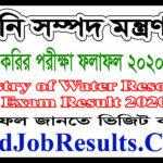 MOWR Job Exam Result 2020