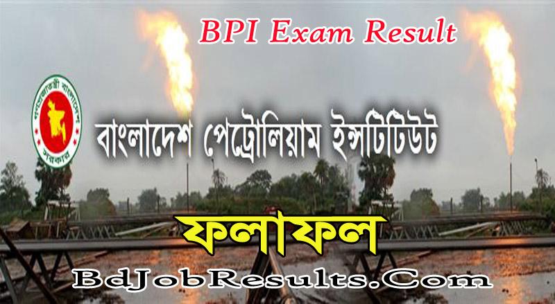 BPI Exam Result 2021