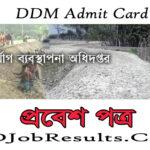 DDM Admit Card 2021