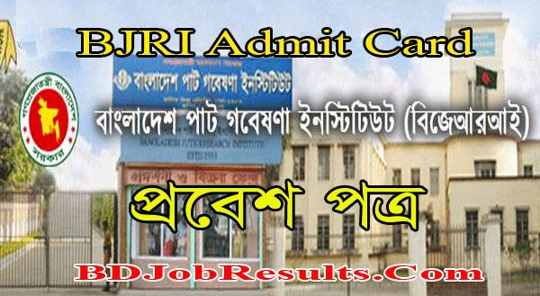 BJRI Admit Card 2021