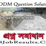 DDM Question Solution 2021