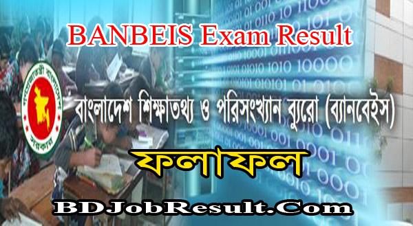 BANBEIS Exam Result 2021