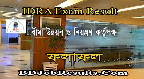 IDRA Exam Result 2021
