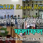 BCSIR Exam Result 2021